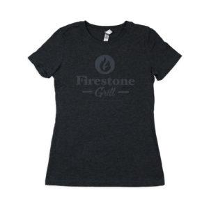 Contemporary Charcoal Firestone Grill logo unisex shirt