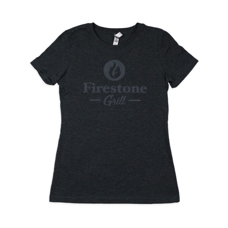 Contemporary Charcoal Firestone Grill logo unisex shirt