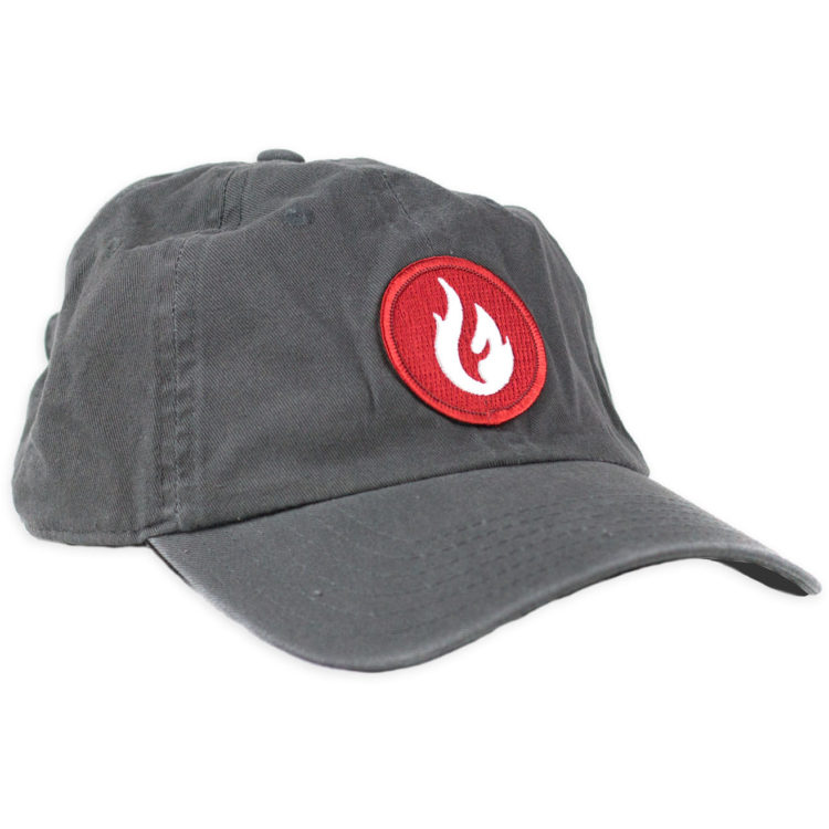 Firestone Flame Patch Hat Gray Front