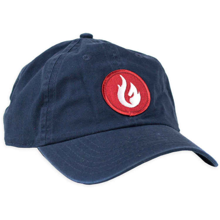 Firestone Flame Patch Hat Navy Front