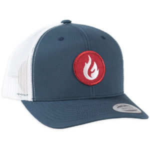 Firestone Flame Patch Hat Navy Mesh Front
